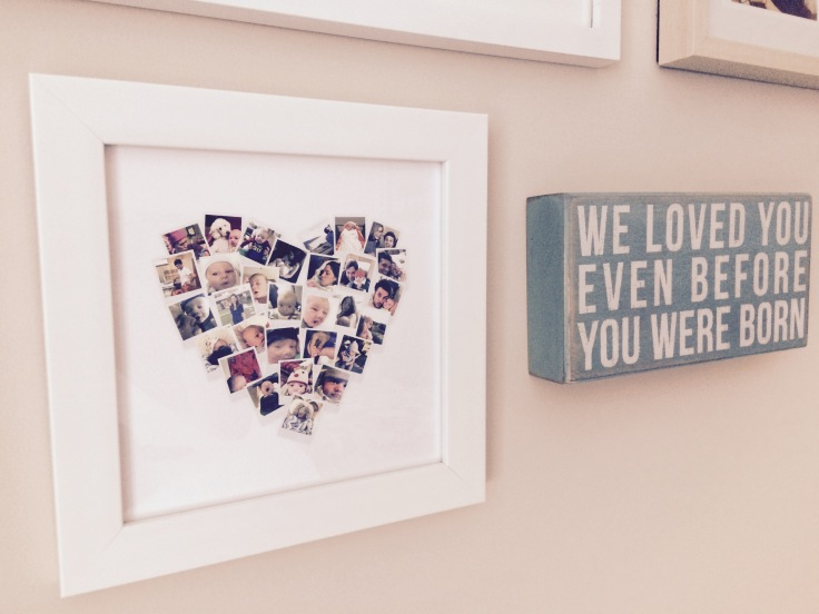 Minted Heart Collage Transfer filter